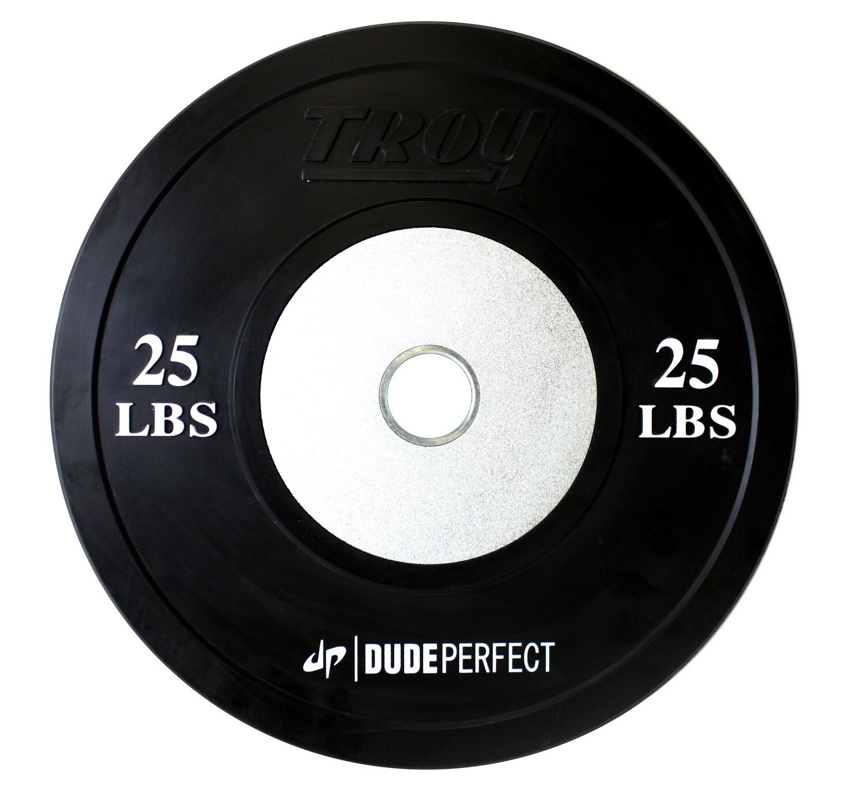 Troy Barbell Competition Bumper Plates - Black (Custom Logo)