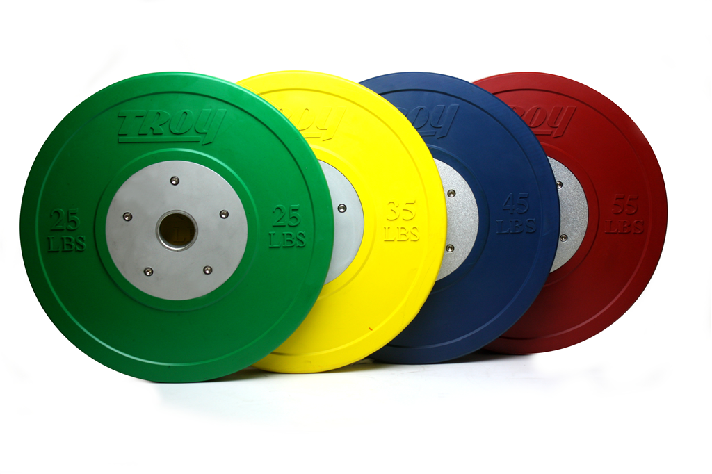 Troy Barbell Competition Bumper Plates - Colored