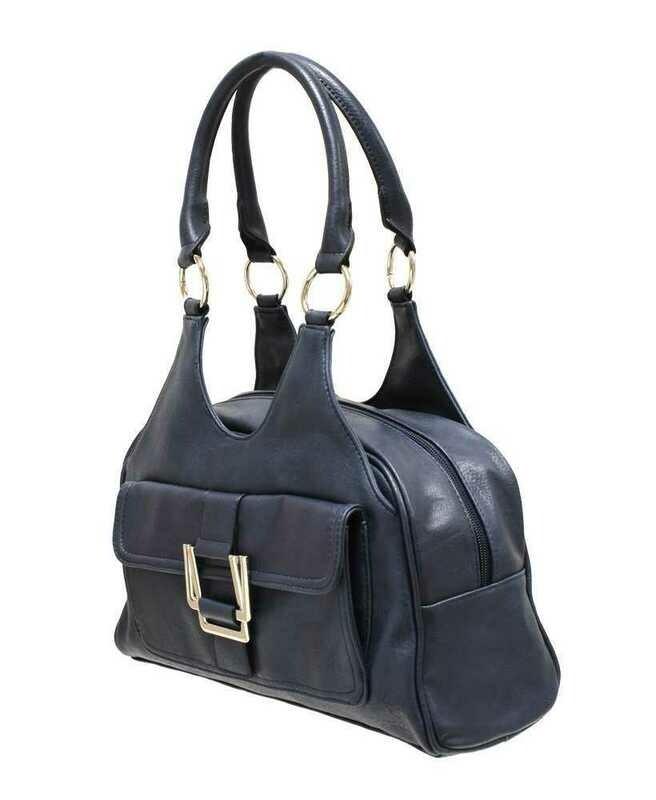Classic Scoop Top Shoulder Bag - Navy