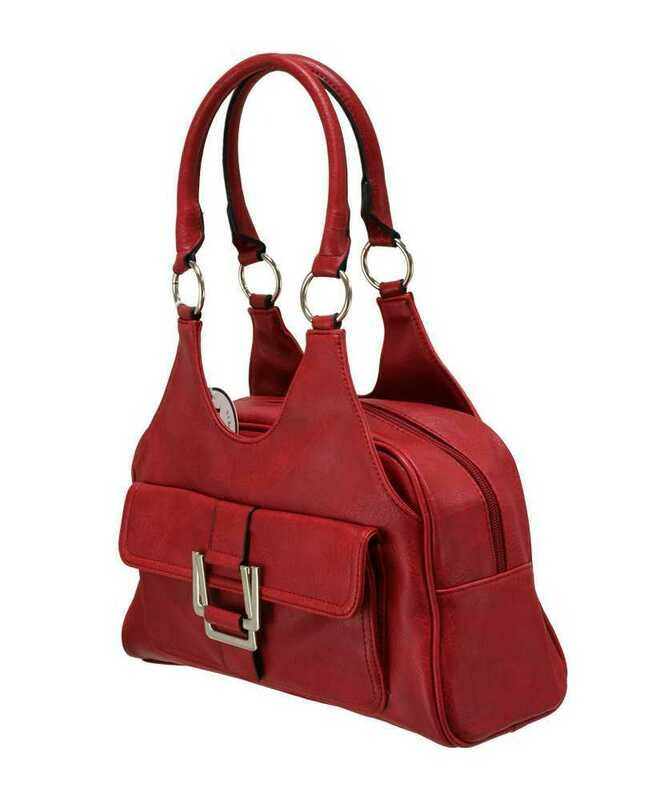 Classic Scoop Top Shoulder Bag - Red
