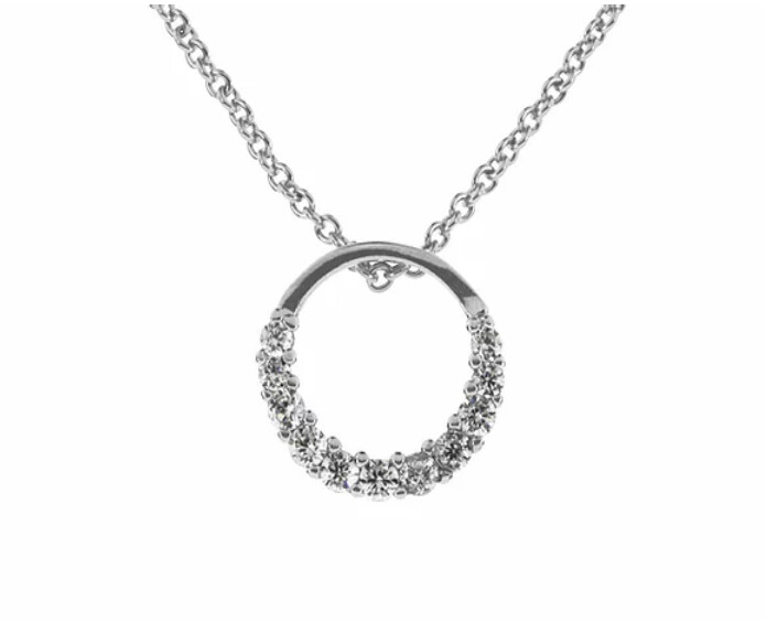 Rhod CZ Ring Necklace -INEC4055
