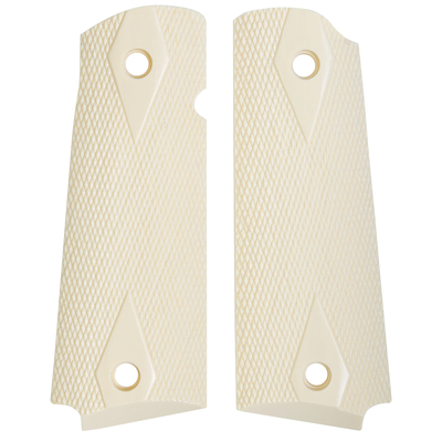 1911 Full Sized Diamond Checkered Ivory Polymer