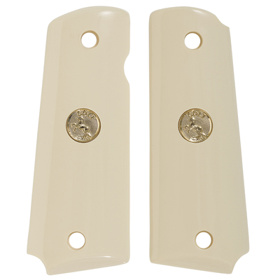 1911 Full Size Ivory Polymer with Gold Colt Medallion