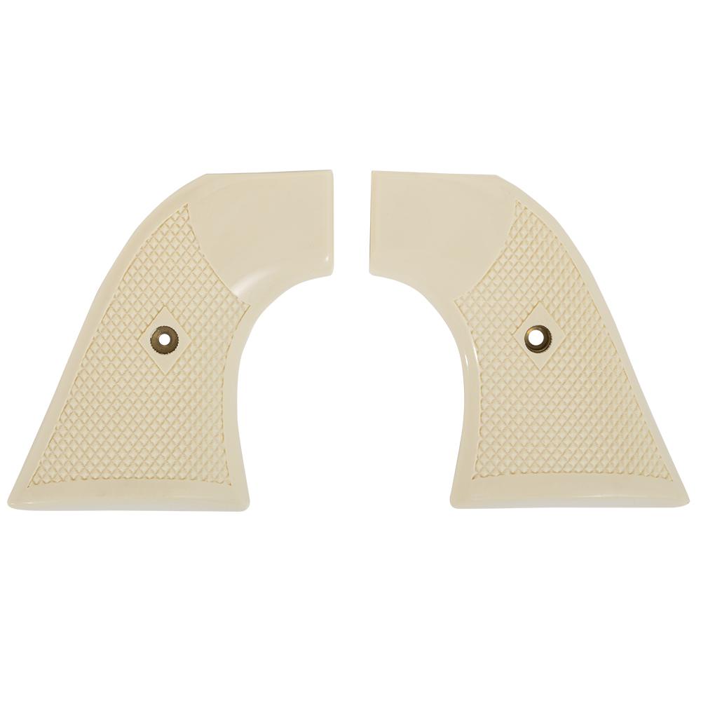 Colt SAA Checkered Ivory Polymer