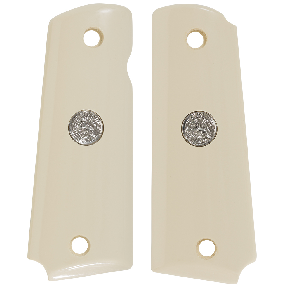 1911 Full Size Ivory Polymer with Silver Colt Medallion