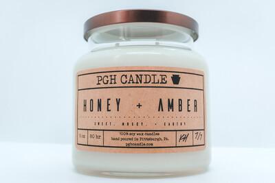 Honey + Amber Soy Candle (2 Sizes)