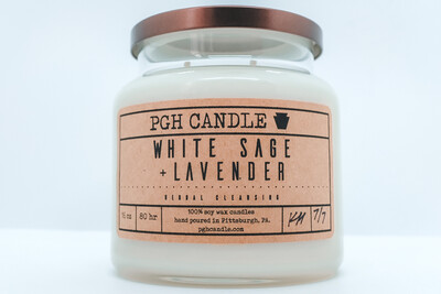 White Sage + Lavender Soy Candle (2 Sizes)