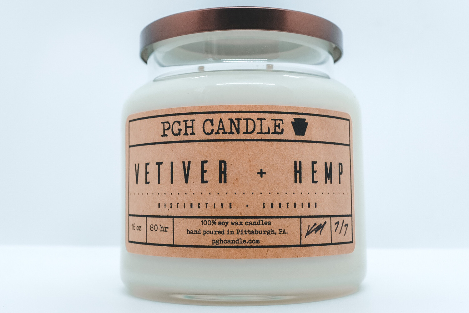 Vetiver + Hemp Soy Candle (2 Sizes)