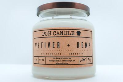 Vetiver + Hemp Soy Candle (2 Sizes)