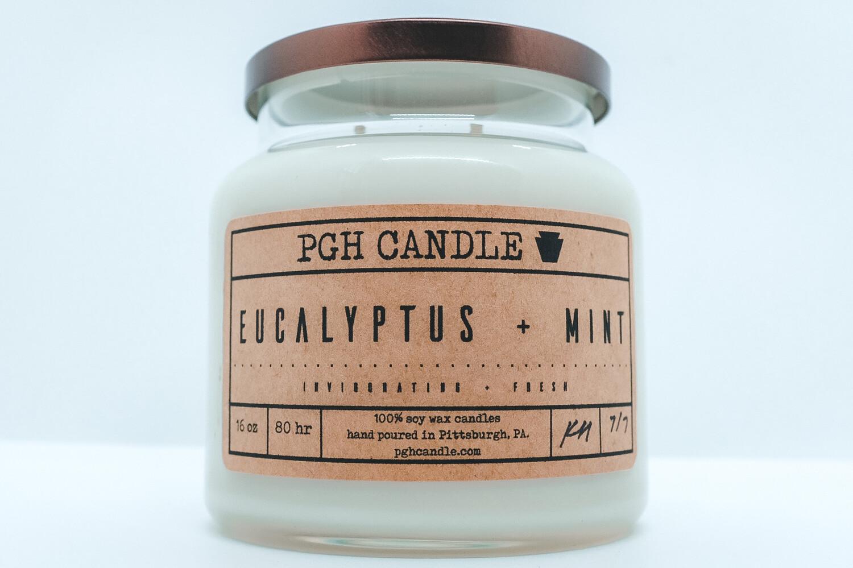 Eucalyptus + Mint Soy Candle (2 Sizes)