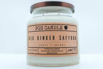 Red Ginger Saffron Soy Candle (2 Sizes)