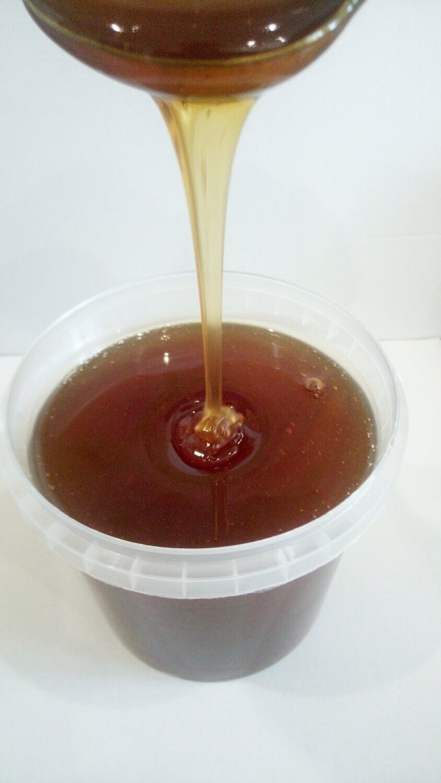 Мёд цветочное разнотравье темное в литровой ёмкости