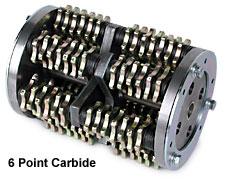 """MK Diamond 8"""" Scarifier Steel Sharp 12 Point 114 Cutters"""