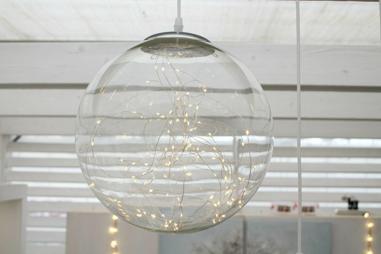 LAMPADA DI VETRO 220V DIAM.30 CM DA APPENDERE