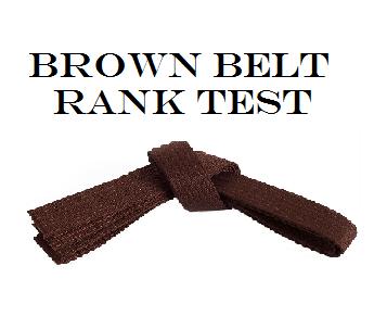 Rank Test - Brown Belt