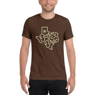 Texas Born & Bred Short sleeve Tri-Blend Supersoft t-shirt