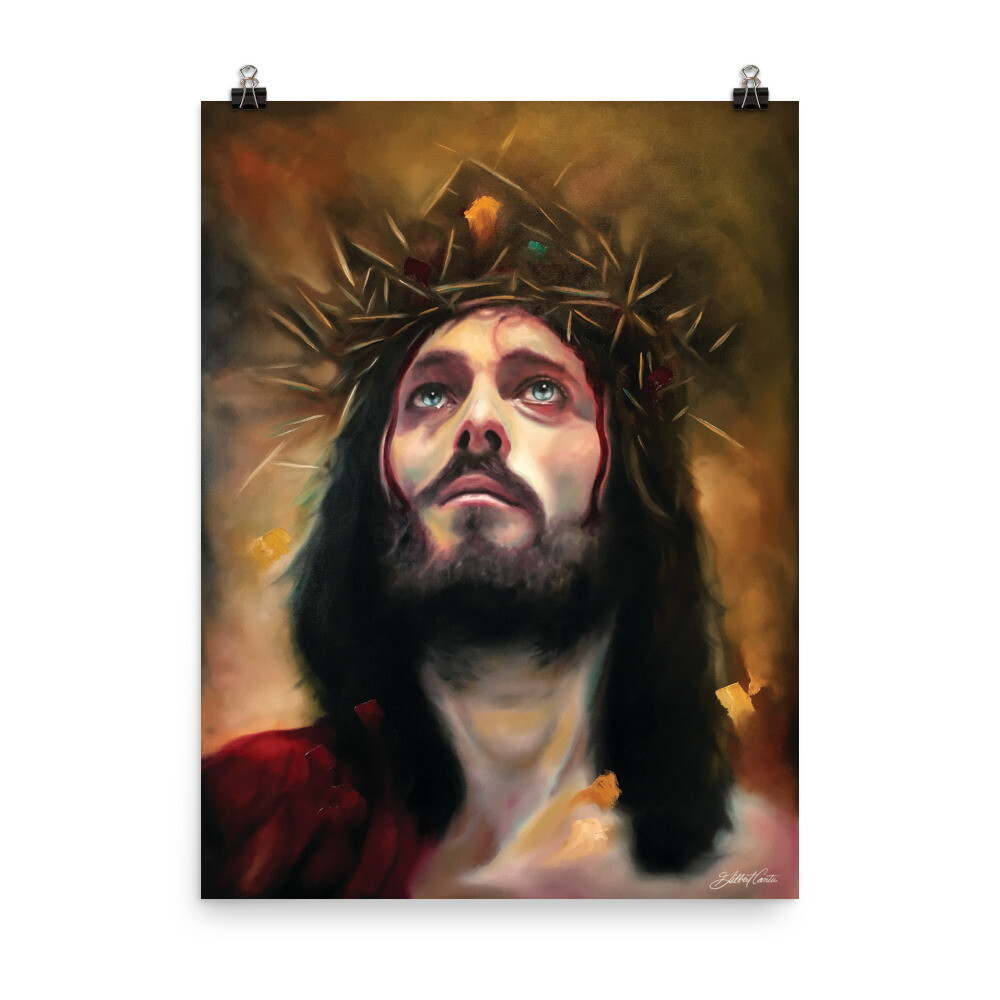"""In His Light"" Poster of Jesus Christ by artist Gilbert Cantu"
