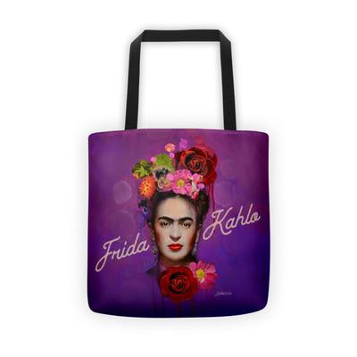 2017 Purple Frida Kahlo Tote bag