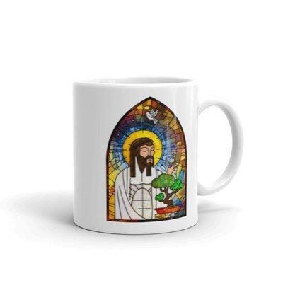 Jesus Loves Bonsai Stained Glass MUG - Ezekiel 17:24