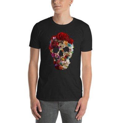 Floral Skull Short-Sleeve Unisex T-Shirt