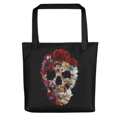 Floral Skull Tote bag