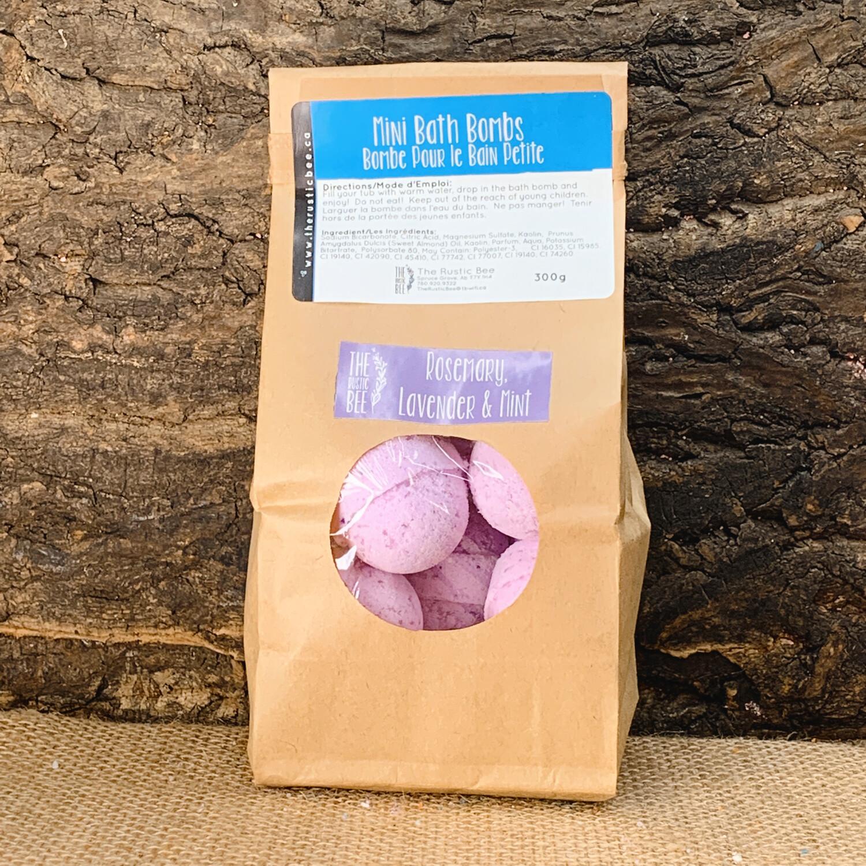 Lavender, Rosemary & Mint Mini Bath Bombs