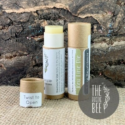 Key Lime Pie Beeswax Lip Balm in Paperboard Tube 12g