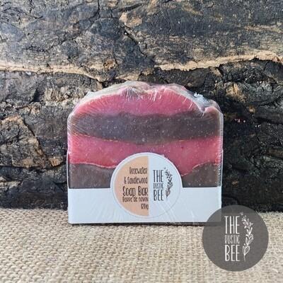 Rosewater and Sandalwood Handmade Soap 120g