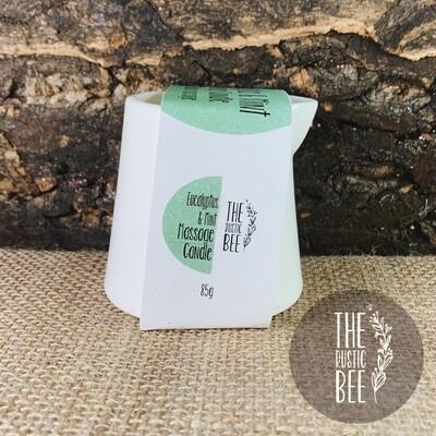 Eucalyptus & Mint Lotion Massage Candle