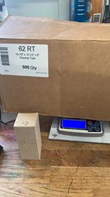 "2x2x5"" Kraft Reverse Tuck Boxes Uline"