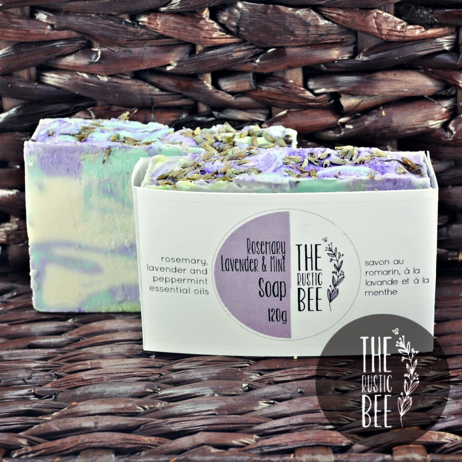 Rosemary, Lavender and Mint Handmade Soap 120g