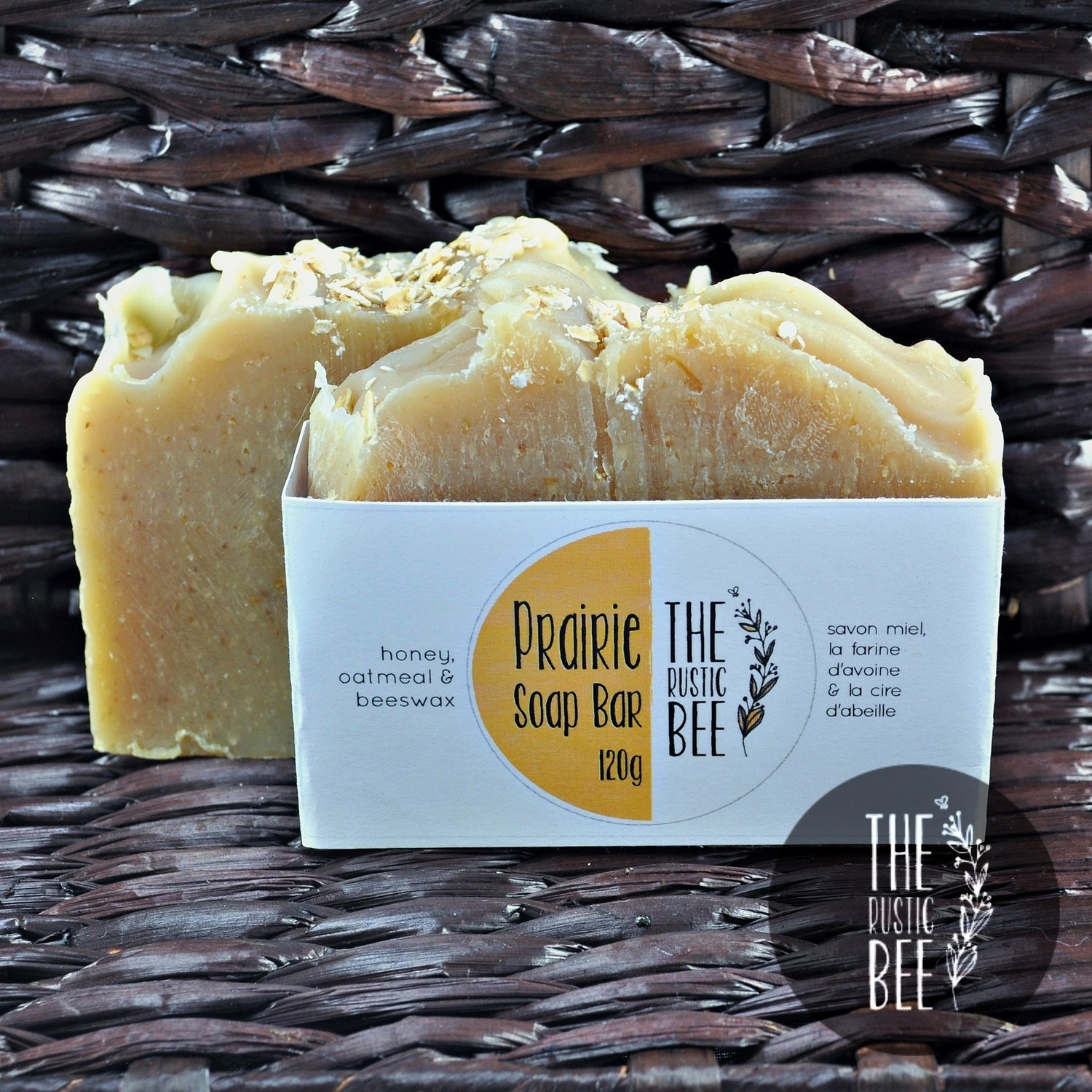 Prairie Handmade Soap (Oatmeal, Beeswax and Honey) 120g