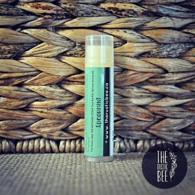 Spearmint Beeswax Lip Balm Tube 4g