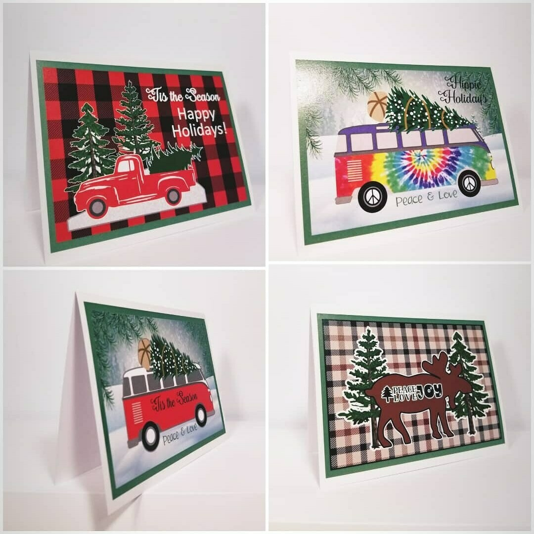 Colorful Christmas Cards with messages