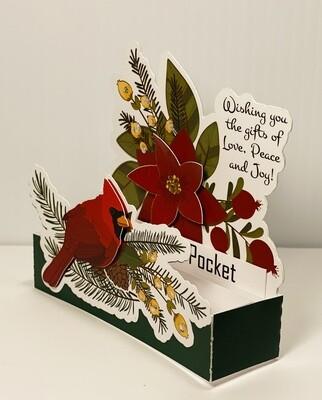 Cardinal Gift Card Box Card
