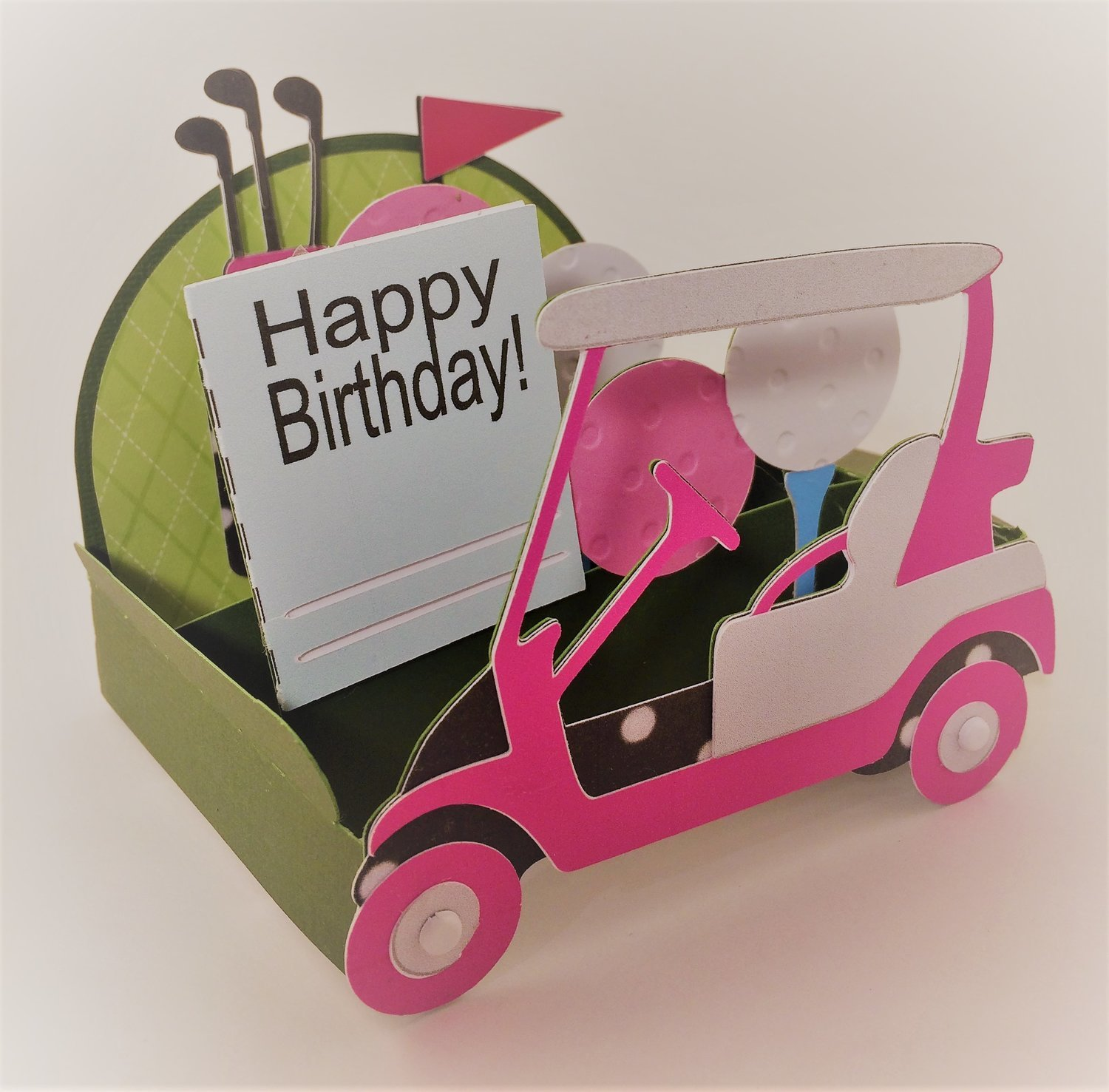 Golf Cart Box Card - PINK