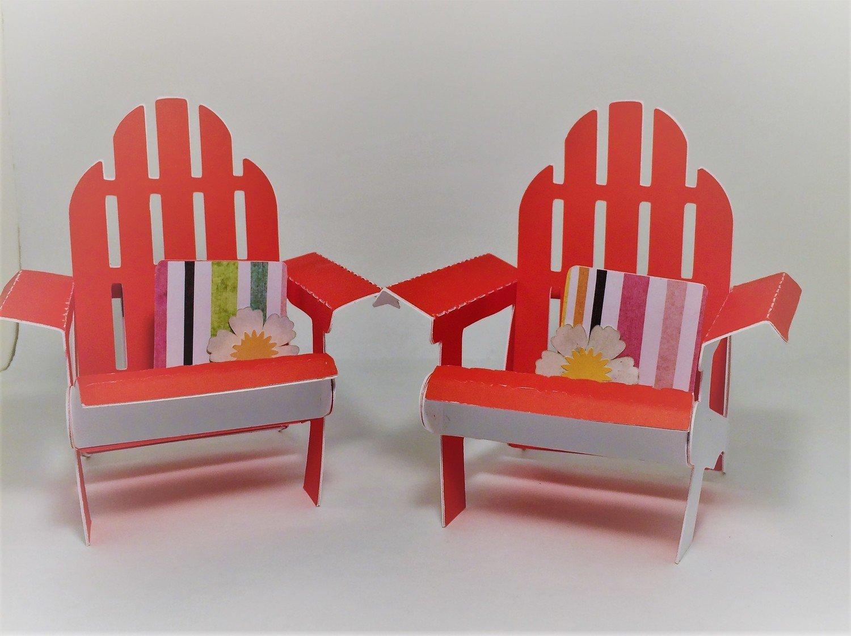 TWO Miniature Addirondack Chairs!