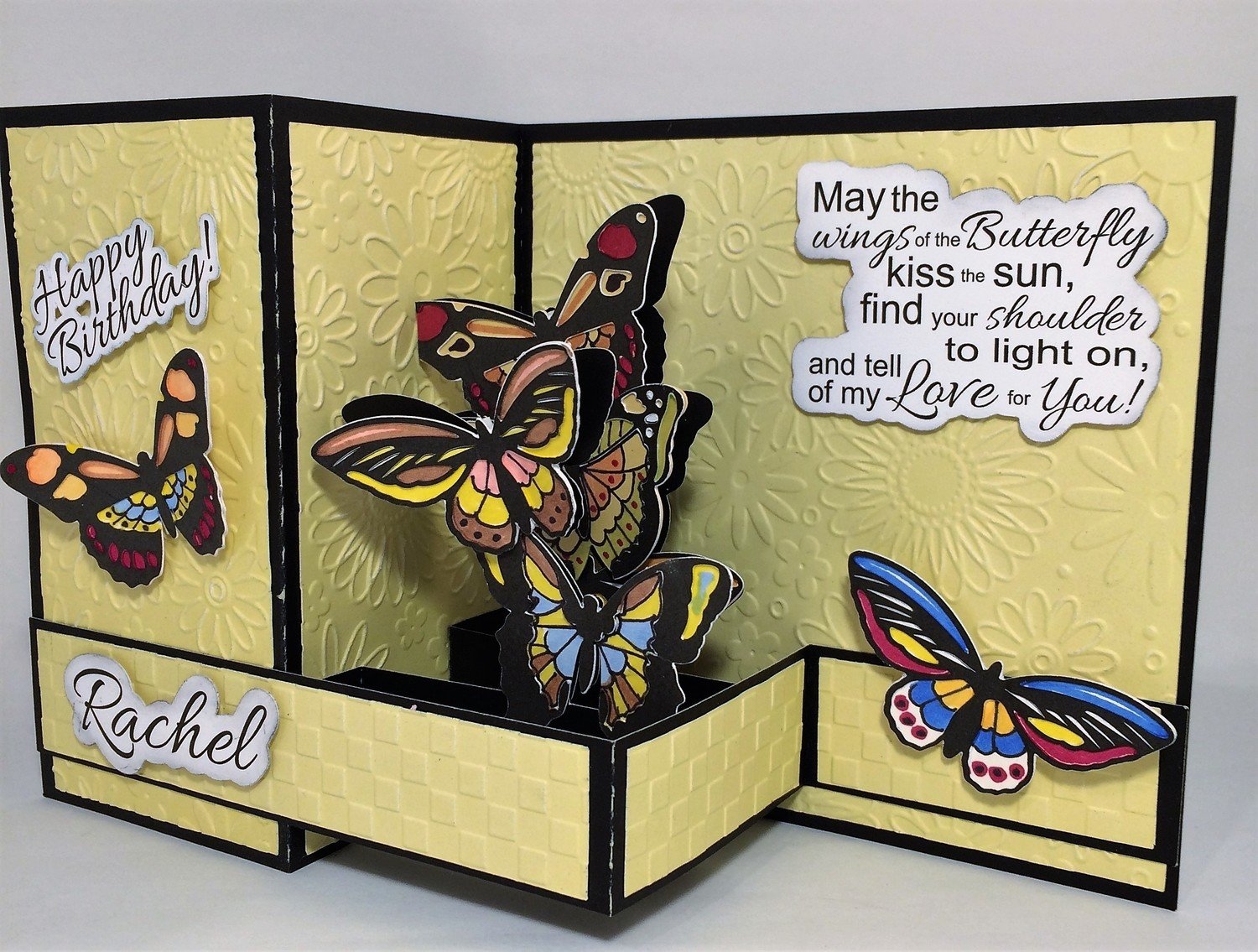 Butterfly Card - Primary Colors
