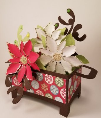 Pointsettia Box card