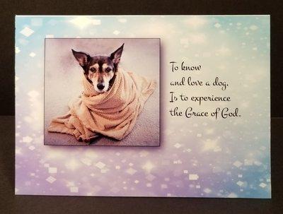 Dog Sympathy card (with photo or Dog Angel)