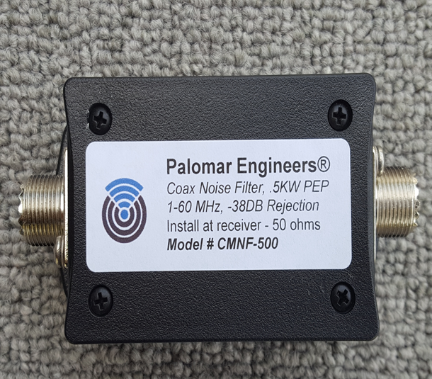 Coax Common Mode Noise Filter - 500 Watts PEP, 1-60 MHz, -38dB Common Mode Noise Suppression!