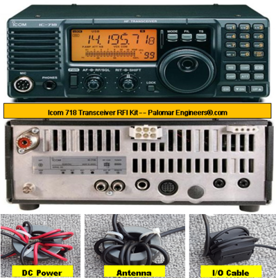 Icom 718 Transceiver RFI Kit - 5 Noise Reduction Filters
