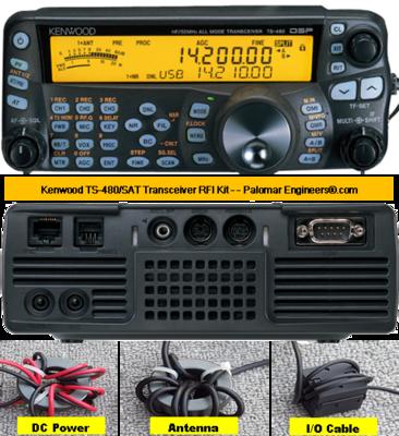 Kenwood TS-480SAT Transceiver RFI Kit - 8 RFI/Noise Reduction Filters