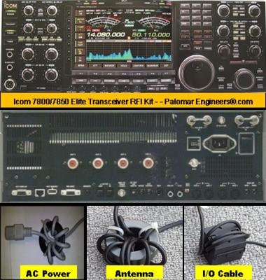Icom 7800/7851 Elite Transceiver RFI and Noise Reduction Kit, RFI Range 1-60 MHz, 24 Filters