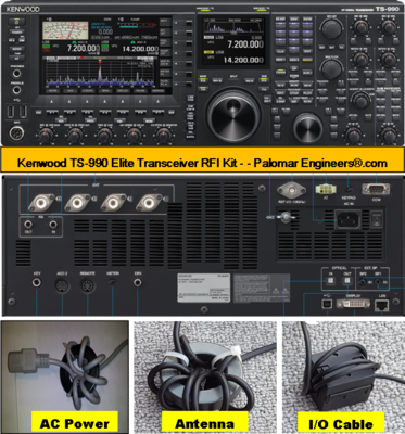 Kenwood TS-990 Elite Transceiver RFI and Noise Reduction Kit, RFI Range 1-60 MHz, 24 Filters