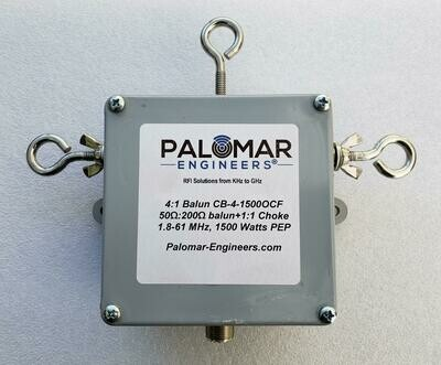 Off Center Fed (OCF) 4:1 Balun and Choke Combo, 1.8-61 MHz, 1.5/3/5KW PEP
