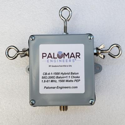 Hybrid 4:1 Current Balun + 1:1 Current Balun in one enclosure, 1.8-61 MHz, 1.5/5KW PEP - Loop, OCF, BBTD, T2FD Antennas