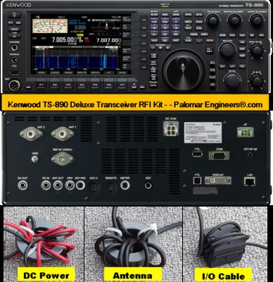 Kenwood TS-890 Transceiver RFI and Noise Reduction Kit, RFI Range 1-300 MHz, 14 Filters