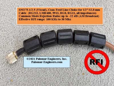 Snap On RF Choke - 1/2