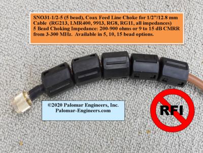 Snap On RF Choke/Isolator - 1/2